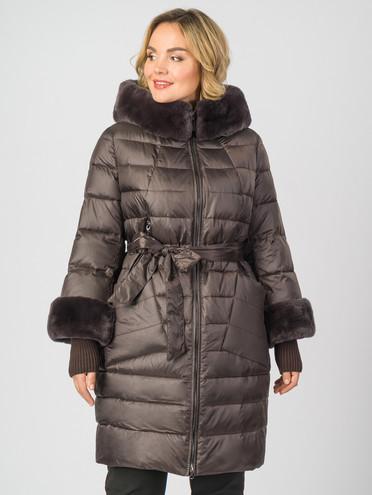 Пуховик текстиль, цвет коричневый металлик, арт. 16006883  - цена 9990 руб.  - магазин TOTOGROUP