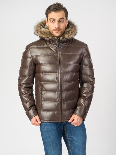 Кожаная куртка кожа , цвет темно-коричневый, арт. 16006900  - цена 22690 руб.  - магазин TOTOGROUP