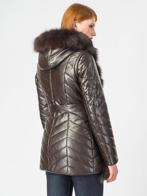 Кожаная куртка артикул 16007012/42 - фото 3