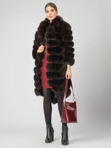 Шуба мех песец крашен., цвет темно-коричневый, арт. 16007295  - цена 17990 руб.  - магазин TOTOGROUP