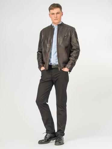 Кожаная куртка кожа , цвет темно-коричневый, арт. 16106176  - цена 9490 руб.  - магазин TOTOGROUP