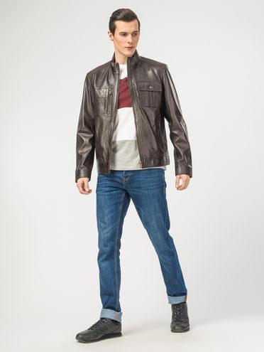 Кожаная куртка кожа , цвет темно-коричневый, арт. 16106181  - цена 9990 руб.  - магазин TOTOGROUP