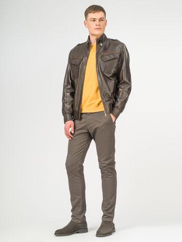 Кожаная куртка кожа , цвет темно-коричневый, арт. 16106185  - цена 11990 руб.  - магазин TOTOGROUP