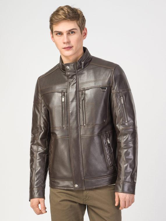 Кожаная куртка кожа , цвет темно-коричневый, арт. 16108230  - цена 19990 руб.  - магазин TOTOGROUP