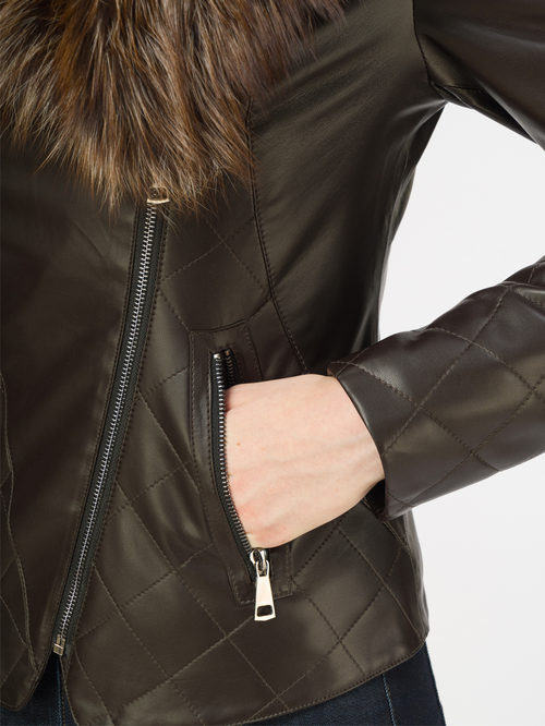 Кожаная куртка артикул 16108569/42 - фото 4