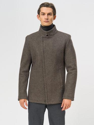 Текстильное пальто 49% шерсть, 51% п.э, цвет темно-коричневый, арт. 16108965  - цена 5290 руб.  - магазин TOTOGROUP