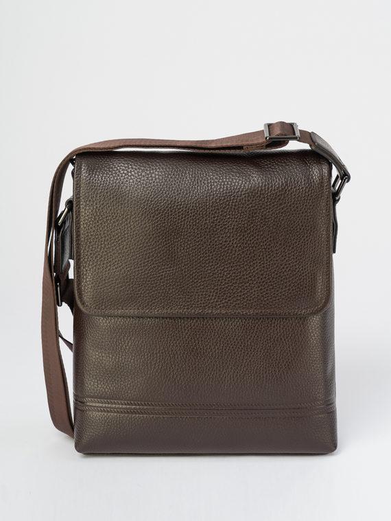 Сумка кожа теленок, цвет темно-коричневый, арт. 16109510  - цена 3790 руб.  - магазин TOTOGROUP