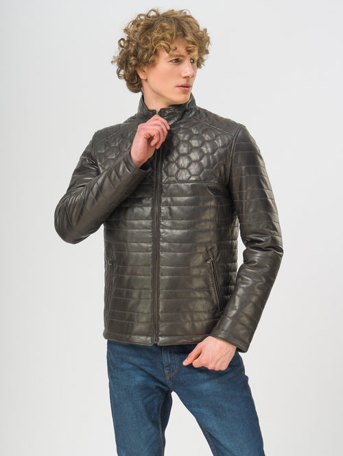 Кожаная куртка артикул 16109529/48 - фото 2