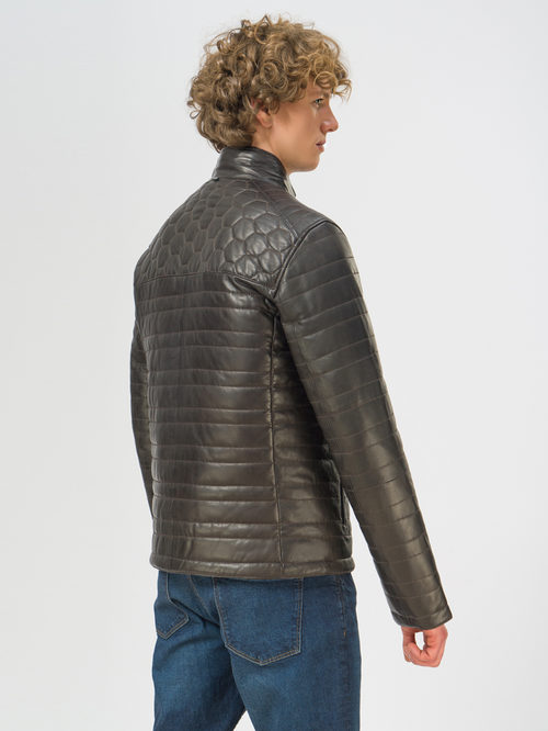 Кожаная куртка артикул 16109529/48 - фото 3