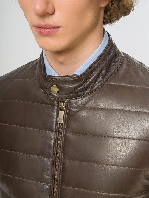 Кожаная куртка артикул 16109530/48 - фото 4