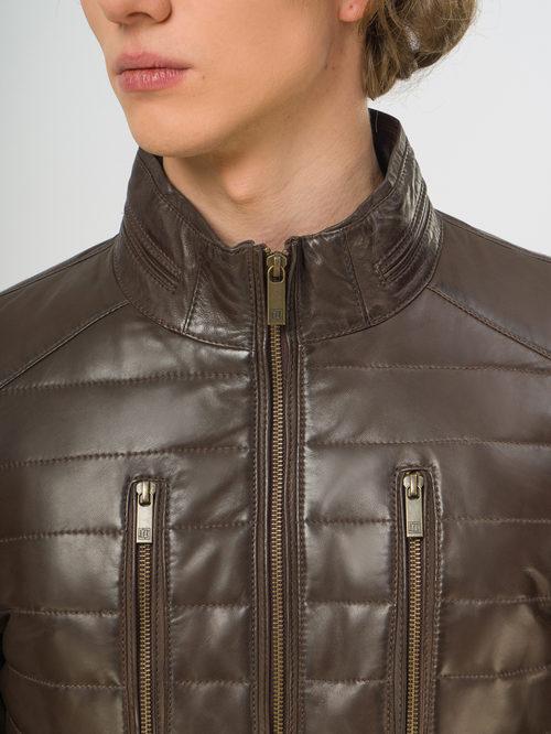 Кожаная куртка артикул 16109531/48 - фото 4