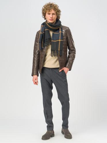 Кожаная куртка кожа, цвет темно-коричневый, арт. 16109531  - цена 18990 руб.  - магазин TOTOGROUP