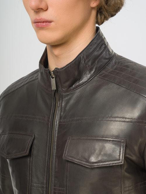 Кожаная куртка артикул 16109532/48 - фото 4