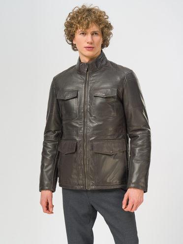 Кожаная куртка кожа, цвет темно-коричневый, арт. 16109532  - цена 18990 руб.  - магазин TOTOGROUP