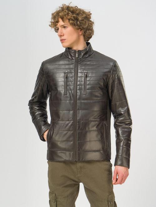 Кожаная куртка артикул 16109537/46 - фото 2