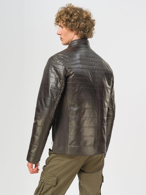 Кожаная куртка артикул 16109537/46 - фото 3