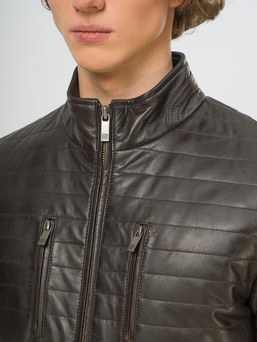 Кожаная куртка артикул 16109537/46 - фото 4
