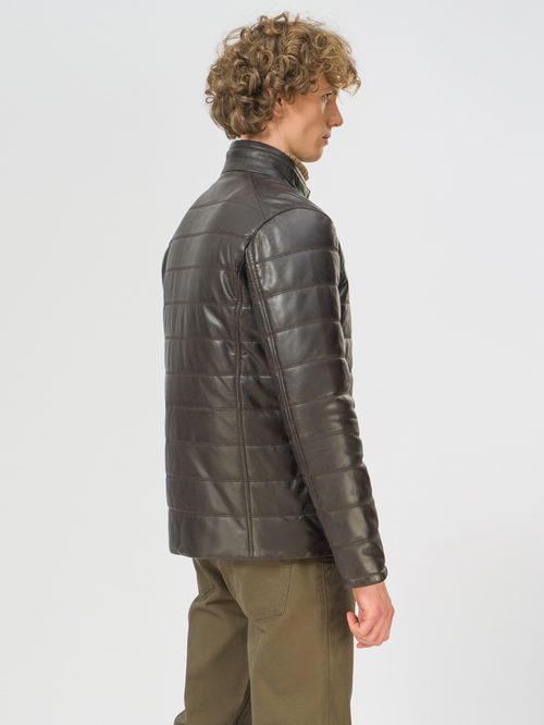 Кожаная куртка артикул 16109540/48 - фото 3