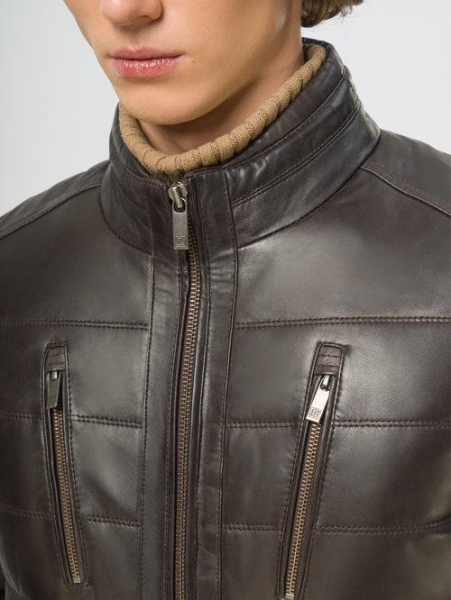 Кожаная куртка артикул 16109540/48 - фото 4