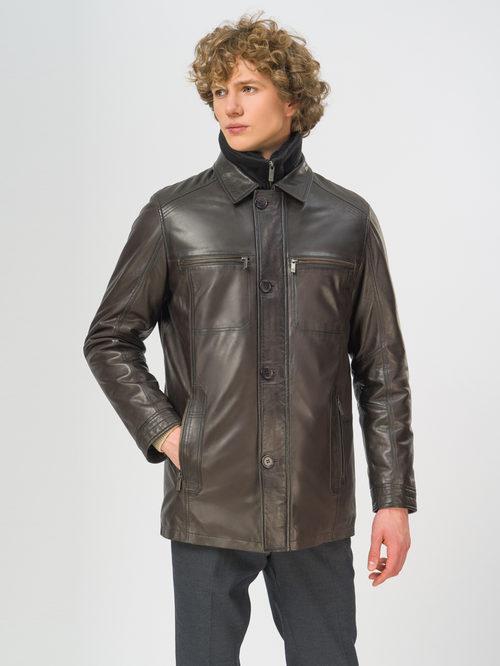 Кожаная куртка артикул 16109543/50 - фото 2