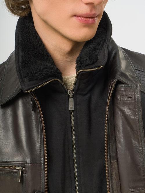 Кожаная куртка артикул 16109543/50 - фото 4
