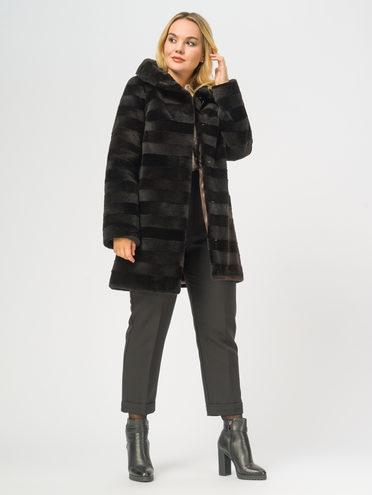 Шуба мех нутрия крашеная, цвет темно-коричневый, арт. 16109658  - цена 8490 руб.  - магазин TOTOGROUP