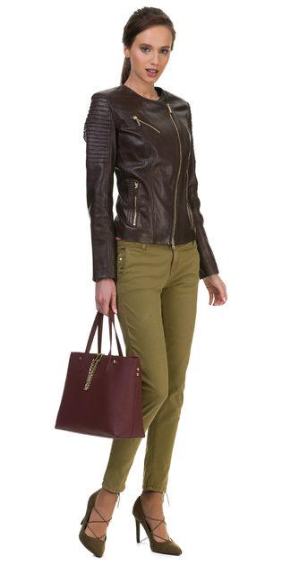 Кожаная куртка кожа овца, цвет темно-коричневый, арт. 16700036  - цена 9990 руб.  - магазин TOTOGROUP