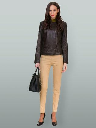 Кожаная куртка кожа овца, цвет темно-коричневый, арт. 16700037  - цена 12690 руб.  - магазин TOTOGROUP