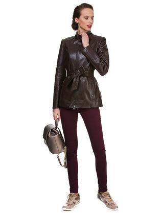 Кожаная куртка кожа овца, цвет темно-коричневый, арт. 16700049  - цена 12990 руб.  - магазин TOTOGROUP