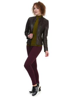 Кожаная куртка кожа овца, цвет темно-коричневый, арт. 16700053  - цена 12690 руб.  - магазин TOTOGROUP