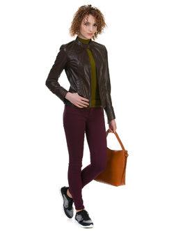 Кожаная куртка кожа овца, цвет темно-коричневый, арт. 16700054  - цена 12490 руб.  - магазин TOTOGROUP