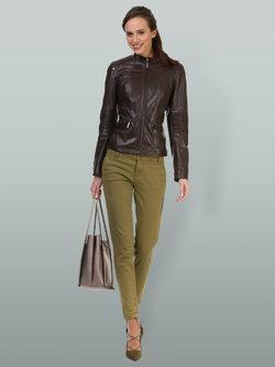 Кожаная куртка кожа овца, цвет темно-коричневый, арт. 16700057  - цена 12690 руб.  - магазин TOTOGROUP