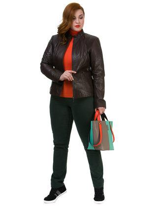 Кожаная куртка кожа овца, цвет темно-коричневый, арт. 16700113  - цена 13990 руб.  - магазин TOTOGROUP
