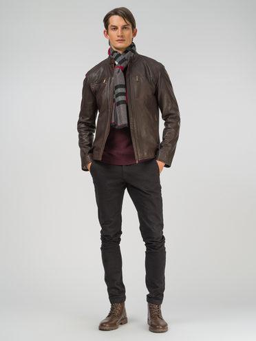 Кожаная куртка кожа, цвет темно-коричневый, арт. 16809207  - цена 12690 руб.  - магазин TOTOGROUP