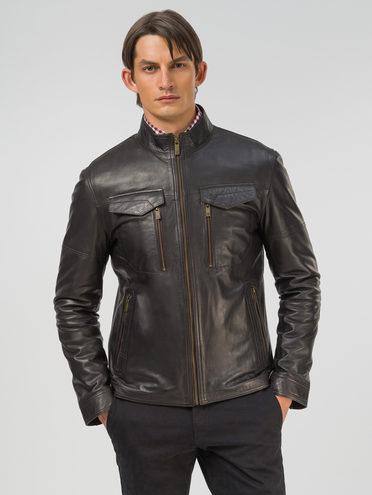 Кожаная куртка кожа, цвет темно-коричневый, арт. 16809208  - цена 15990 руб.  - магазин TOTOGROUP