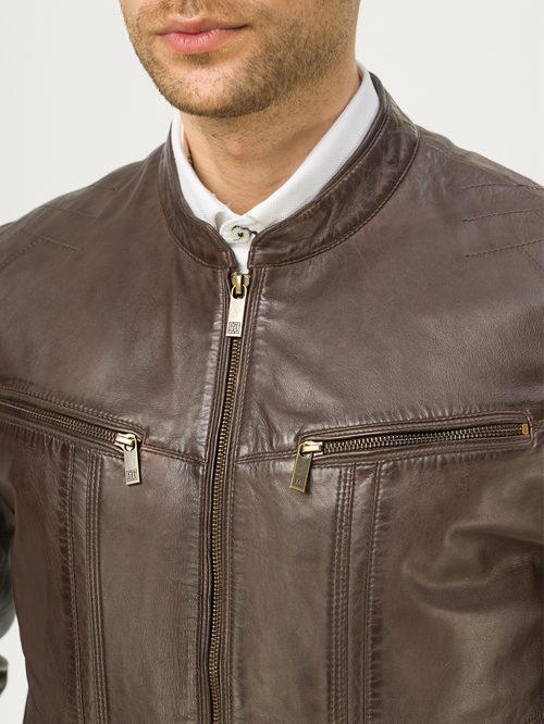 Кожаная куртка артикул 16809213/48 - фото 4