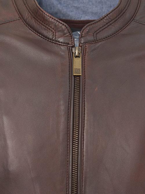 Кожаная куртка артикул 16809215/48 - фото 3