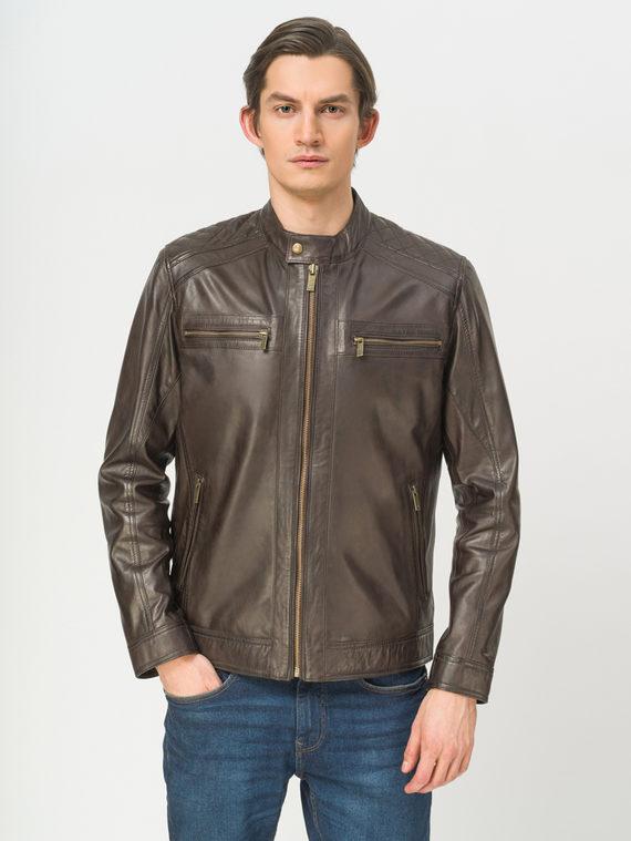Кожаная куртка кожа, цвет темно-коричневый, арт. 16809221  - цена 9990 руб.  - магазин TOTOGROUP
