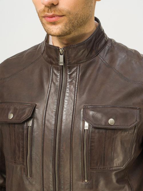 Кожаная куртка артикул 16809229/56 - фото 4