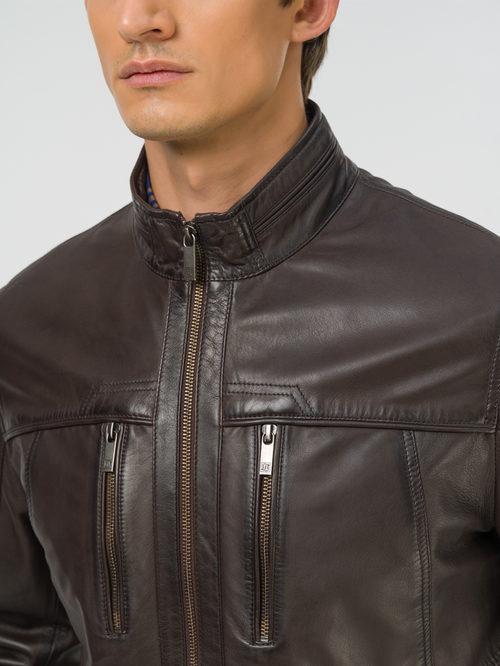 Кожаная куртка артикул 16809230/48 - фото 3