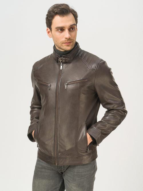 Кожаная куртка артикул 16809233/48 - фото 2