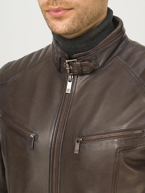 Кожаная куртка артикул 16809233/48 - фото 4
