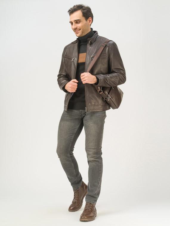 Кожаная куртка кожа, цвет темно-коричневый, арт. 16809233  - цена 9990 руб.  - магазин TOTOGROUP