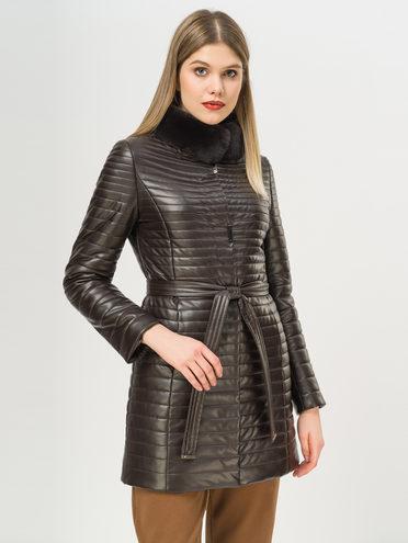 Кожаное пальто эко-кожа 100% П/А, цвет темно-коричневый, арт. 16809306  - цена 6630 руб.  - магазин TOTOGROUP