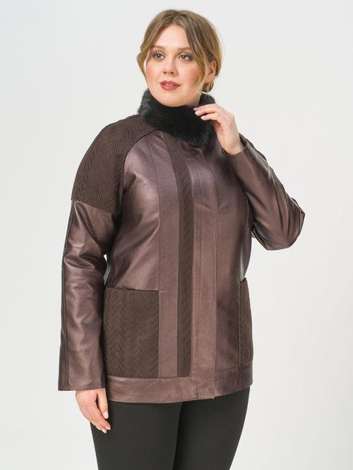 Кожаная куртка артикул 16810214/46 - фото 2