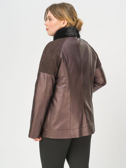Кожаная куртка артикул 16810214/46 - фото 3