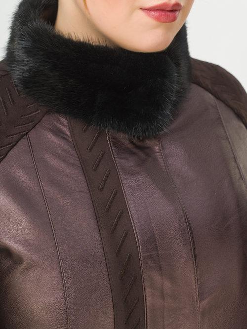 Кожаная куртка артикул 16810214/46 - фото 4