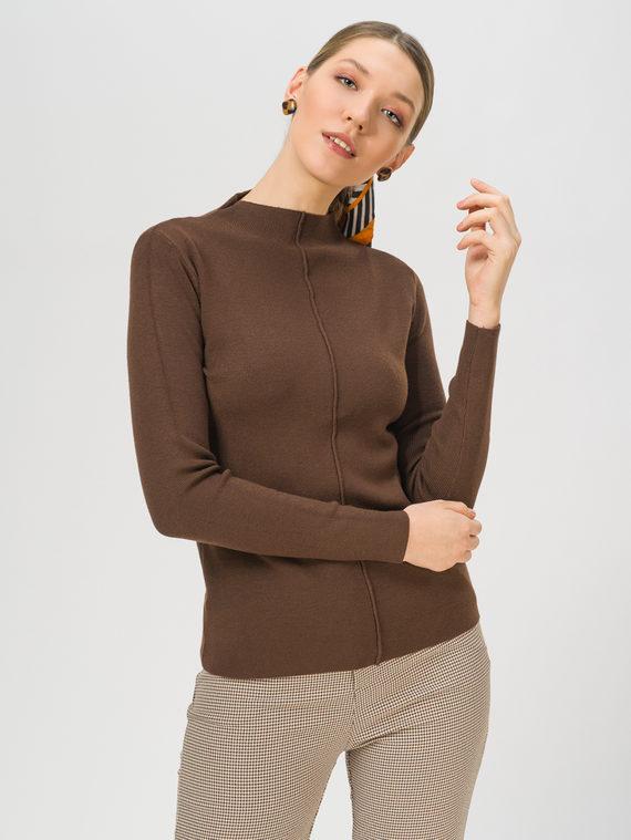 Джемпер 45% вискоза, 30% полиэстер, 25% нейлон, цвет темно-коричневый, арт. 16810337  - цена 990 руб.  - магазин TOTOGROUP