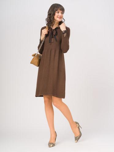 Платье 65% вискоза,35% нейлон, цвет темно-коричневый, арт. 16810351  - цена 1660 руб.  - магазин TOTOGROUP