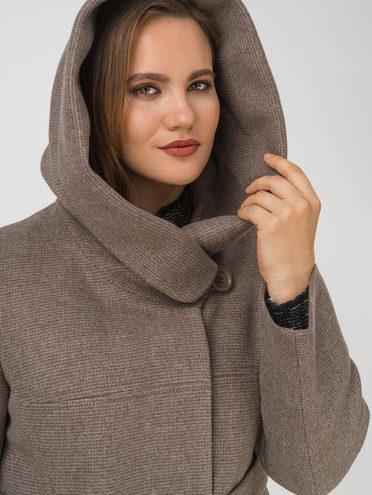 Текстильное пальто 35% шерсть, 65% полиэстер, цвет темно-коричневый, арт. 16810666  - цена 6990 руб.  - магазин TOTOGROUP